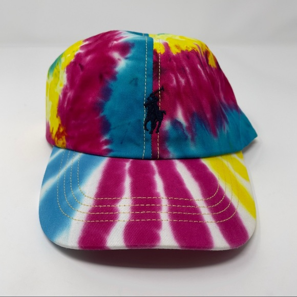 Polo Ralph Lauren Tie Dye Colorful Baseball Hat